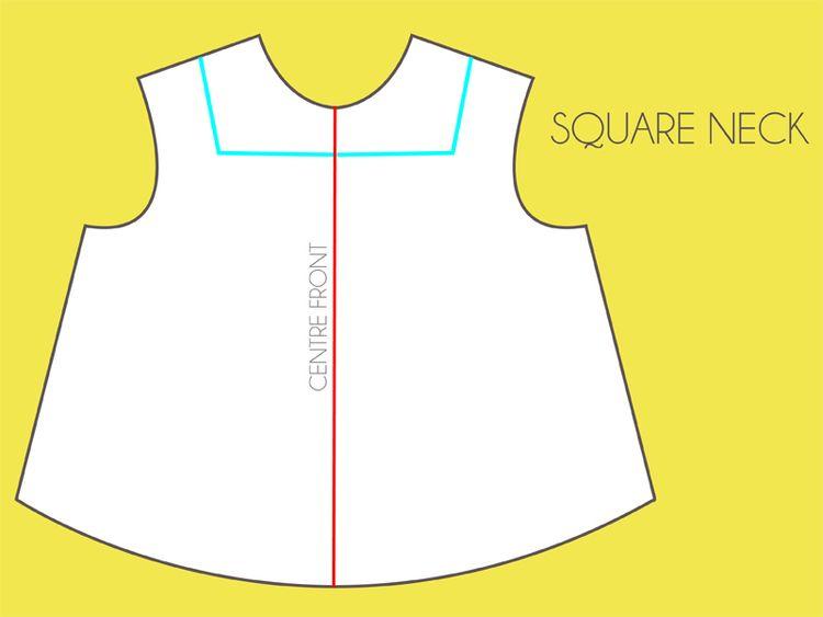 neckline options   باترونات   Pinterest   Neckline, Cuttings and ...