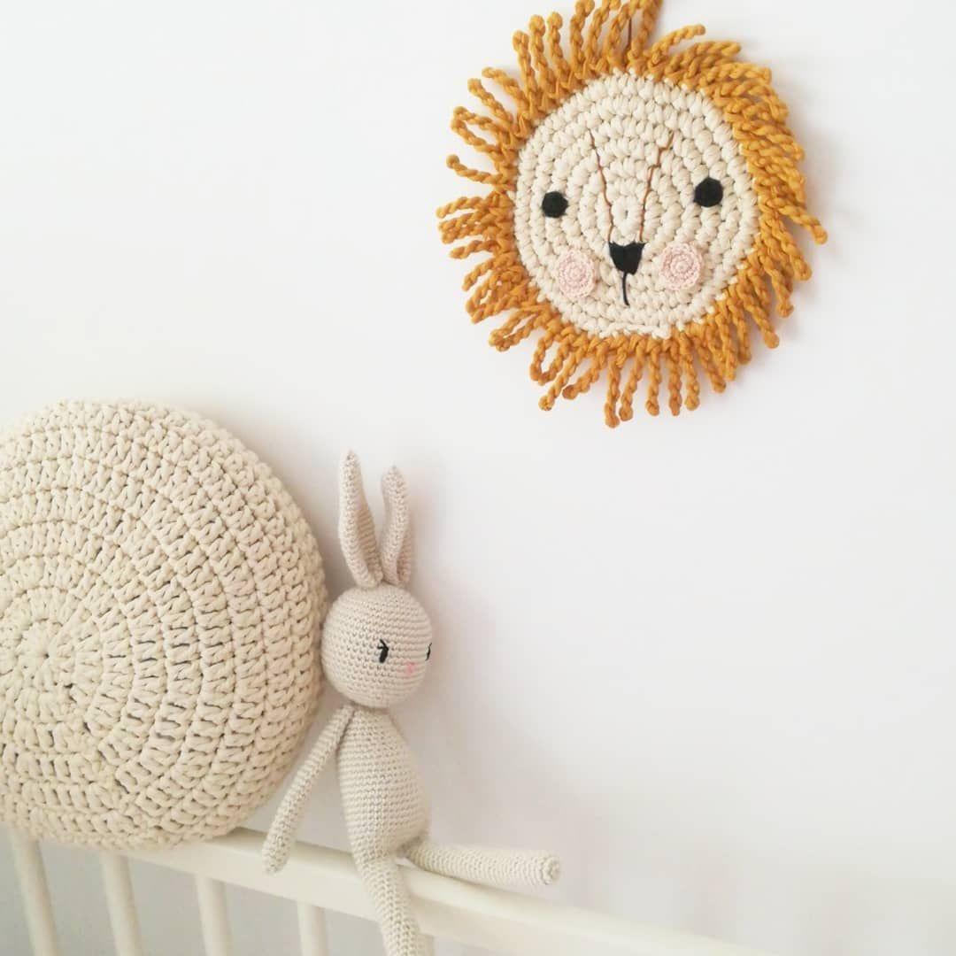 Hanging decoration handmade felted Jungle animals wall hanging