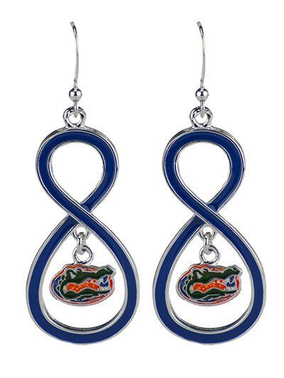 Florida Gators Silver Mascot Earrings