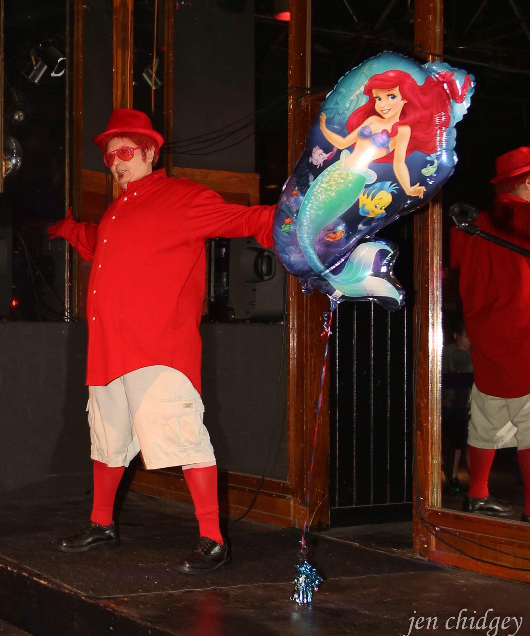Drag King JC Alexander Lane (JC Leigh Cox) performing as Sebastian the crab from Little Mermaid.