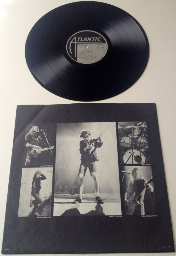 Ac Dc Back In Black Lp Vinyl Record Album By Thisvinyllife Vinyl