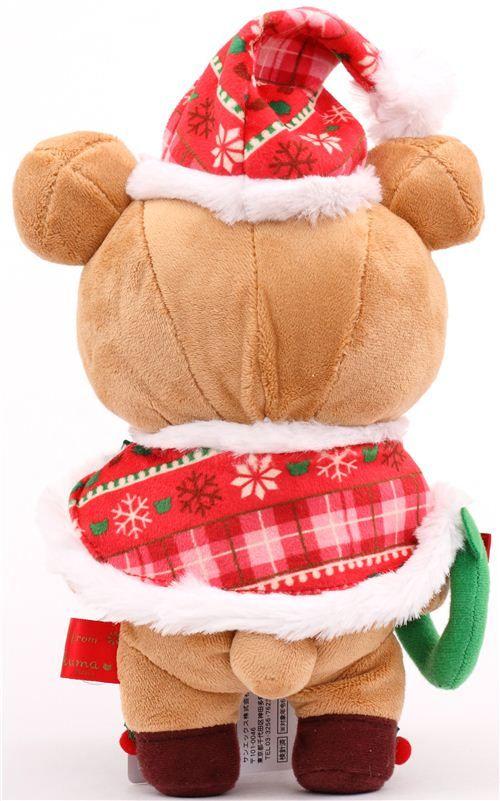 Rilakkuma Brown Bear Santa Claus Xmas Plush Toy San X Japan