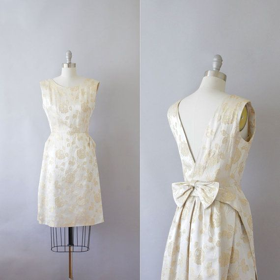 a5da1425f7 1960s brocade cocktail dress / vintage 60s champagne by Coralroot, $168.00