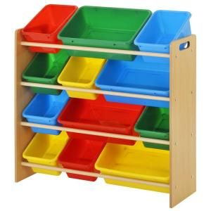 Sandusky 34 In X 30 7 In Kids Storage 12 Cube Organizer In Brown Kbo 341030bc The Home Depot Toy Storage Bins Toy Storage Organization Toy Storage