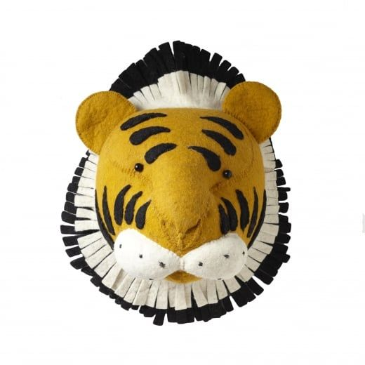 Fiona Walker England Tiger Felt Animal Head Wall Mounted | Playroom ...
