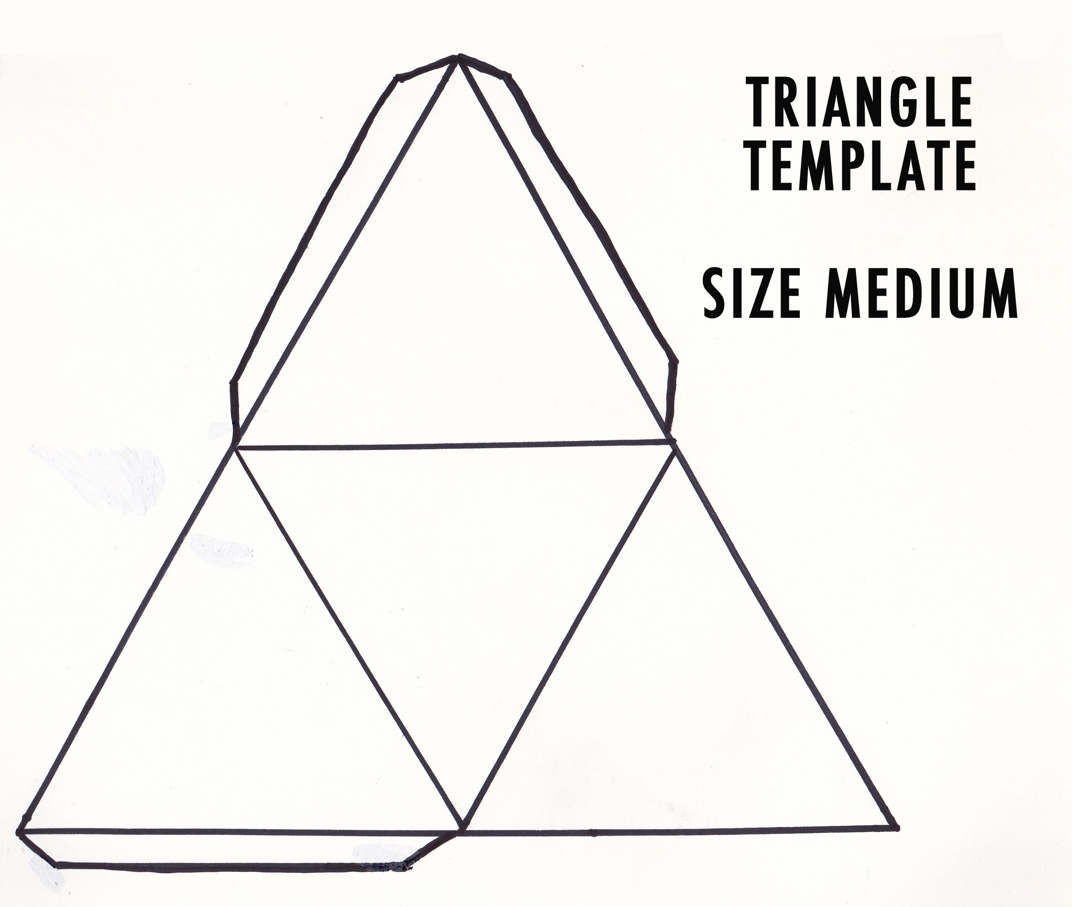 Medium Triangle Template