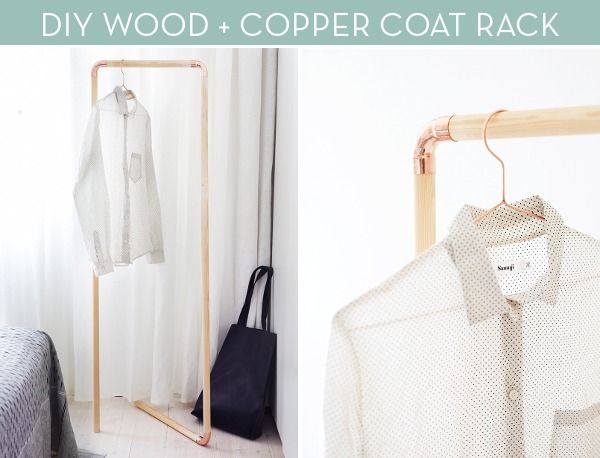 How To: Make a Modern Wood and Copper Coat Rack