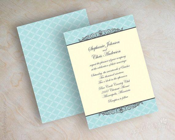 Formal wedding invitations, formal invitation, victorian wedding - formal invitation style