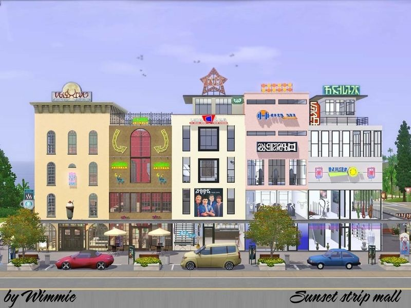 Wimmie S Sunset Strip Mall Strip Mall Sims House Plans Minecraft City