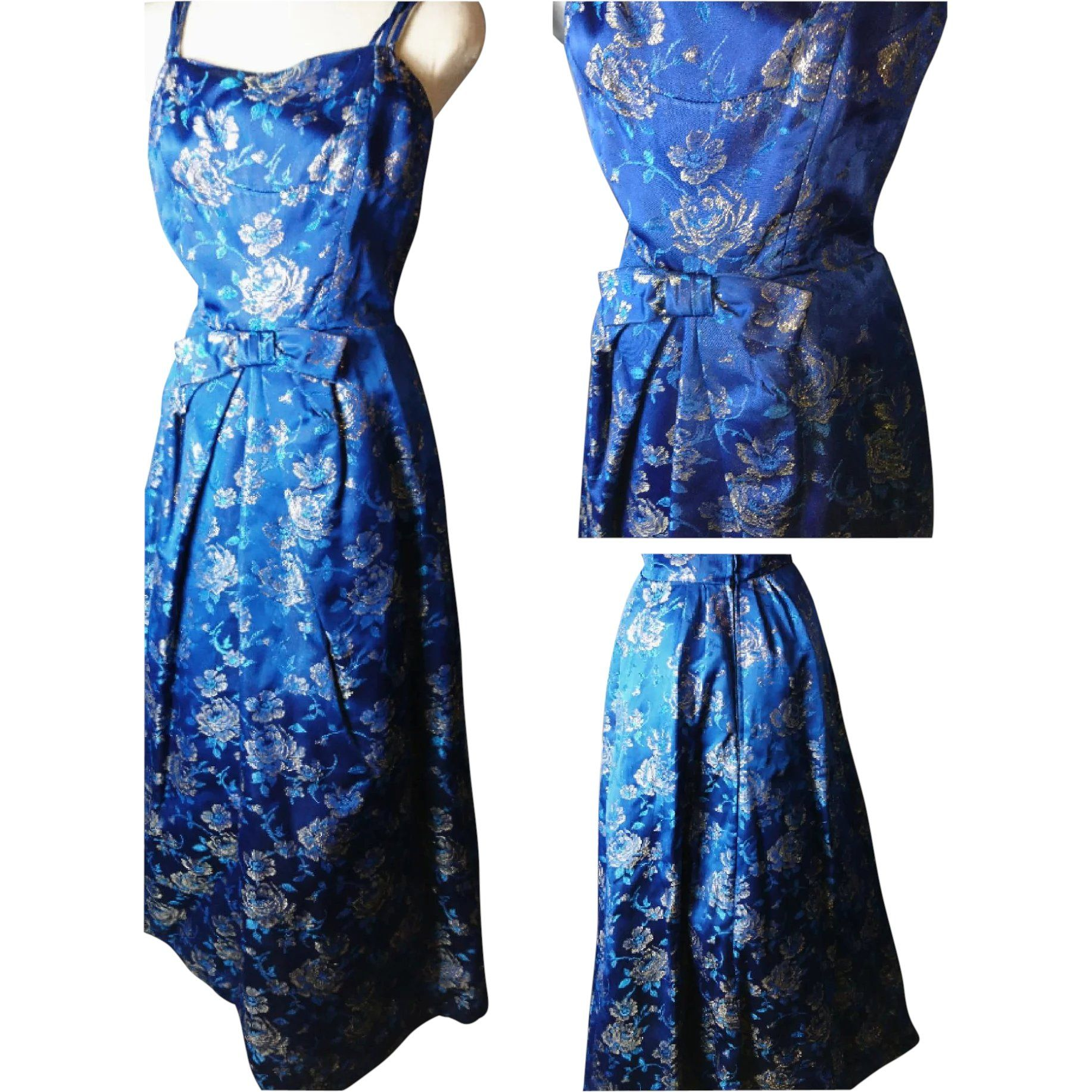 Vintage us brocade dress evening gown vintage clothing and