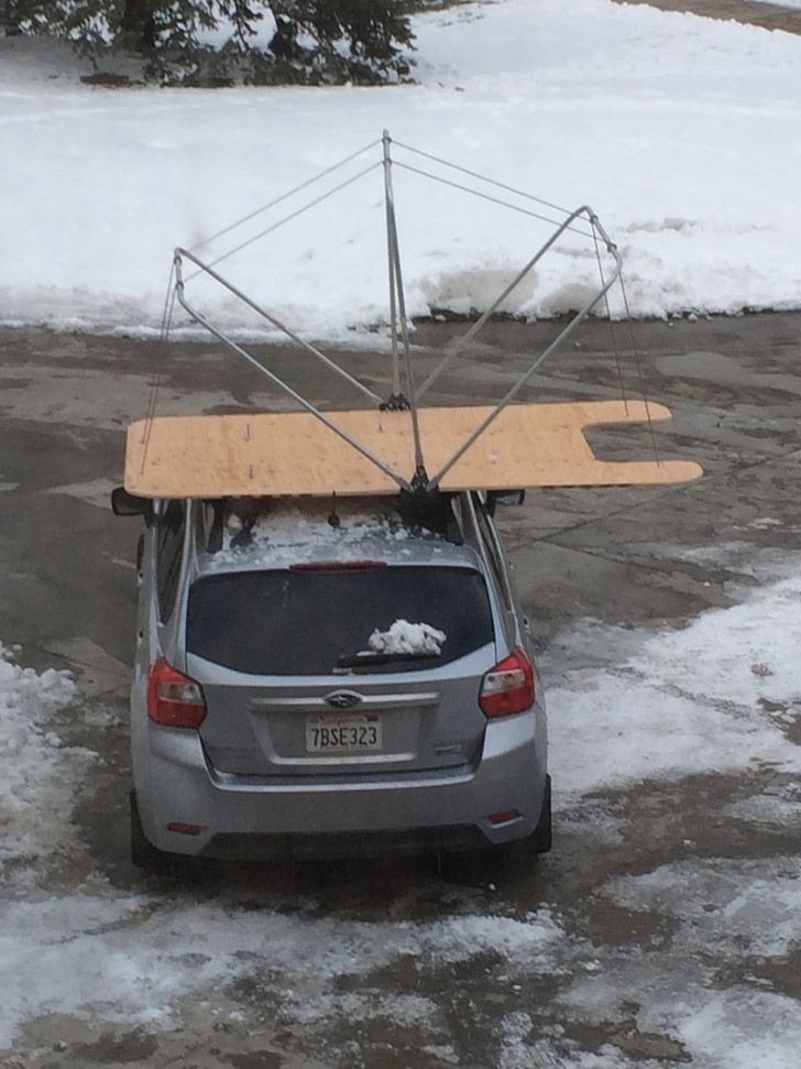 frame on car u2026 & Build This Rooftop Tent Without Even Leaving Home Depot | outdoors ...