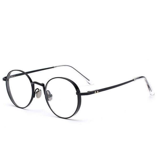 c1caf3ee5d32e Round Vintage Eyeglasses Frame Women Men Optical Eye Glasses Spectacle Frame  For Women s Clear Lens Female Glasses Frame