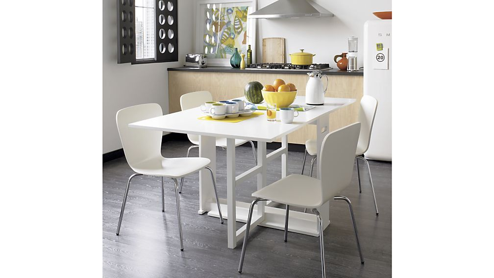 Span White Gateleg Dining Table White dining chairs, Dining chairs