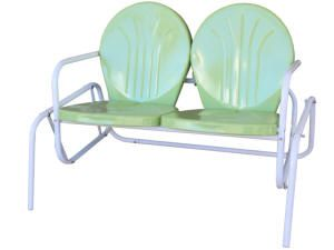 Wonderful Lime Retro Metal Double Glider By Torrans  I Have The Single Chairs, But I  Want This Double Glider For The Front Porch!