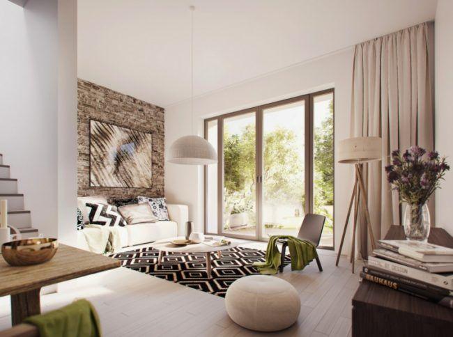 Modernes Wohnzimmer Einrichten In Den Farben Grau, Beige Oder Weiß