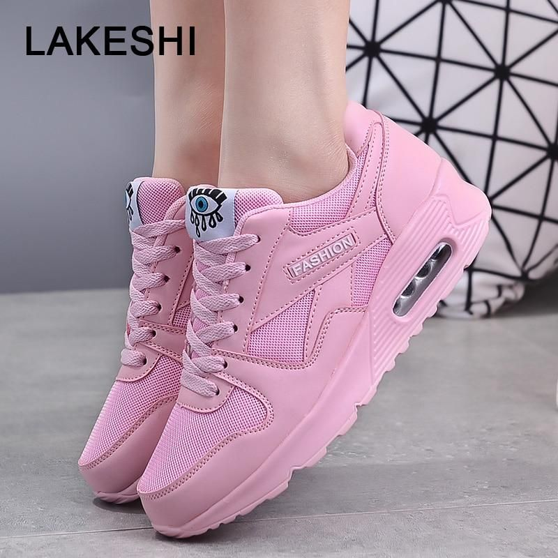 Details about  /Womens Athletic Shoes Sneakers Breathable Mesh Lace Up Outdoor Casual Walking