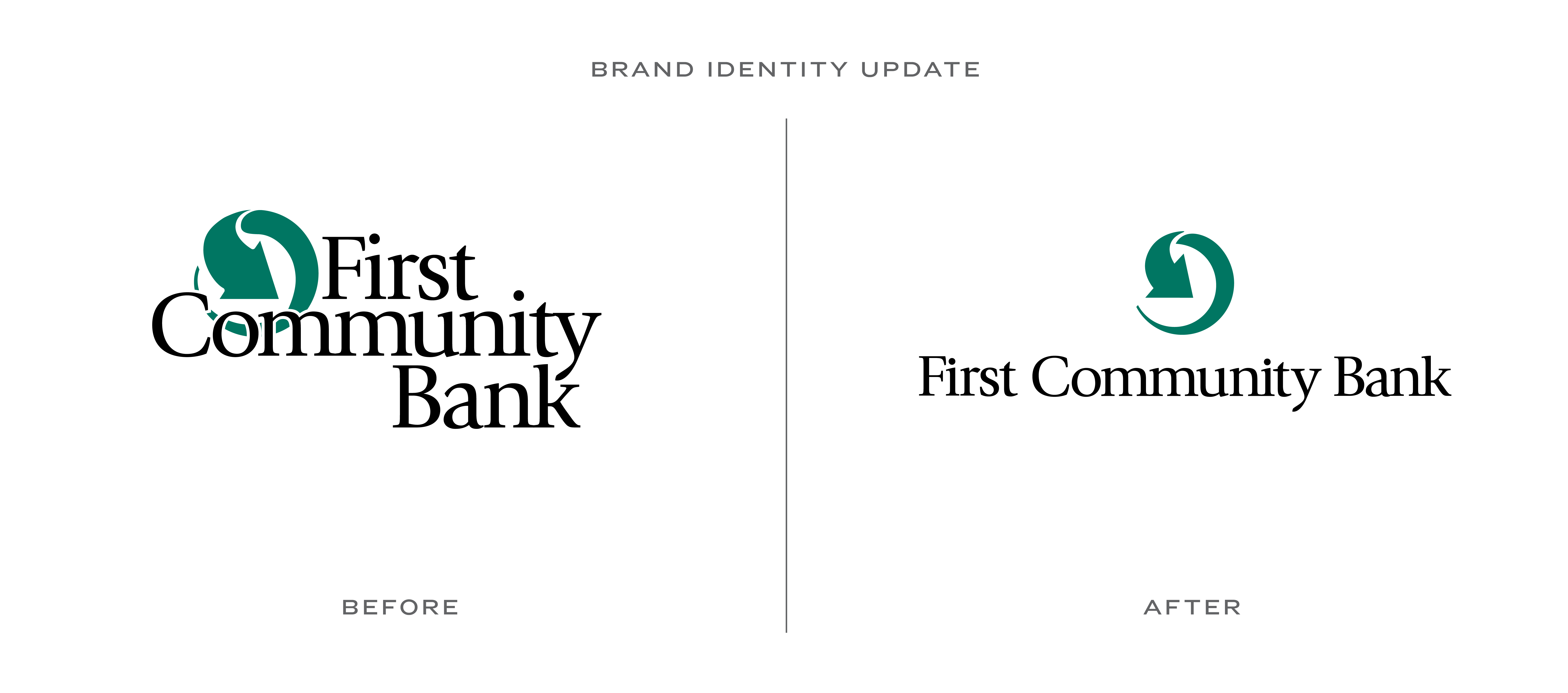 Logo Update First Community Bank Logo Design Logos Brand Identity