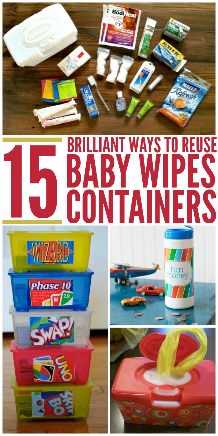 15 Brilliant Ways To Reuse Baby Wipes Containers Diy
