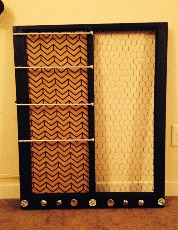 Deluxe size 35 x 29 wooden window Jewelry Organizer Wooden windows