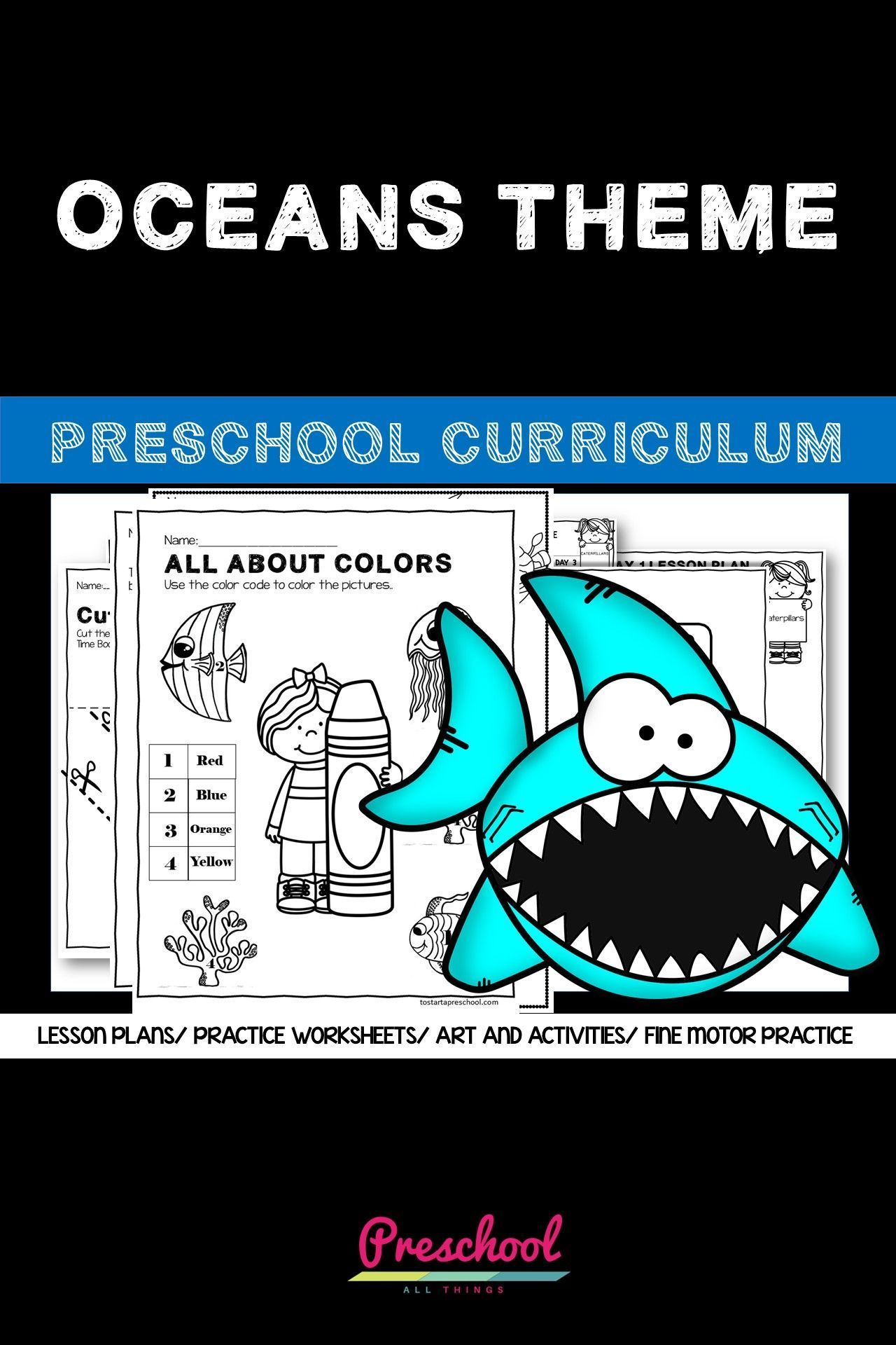 Oceans Preschool Theme In