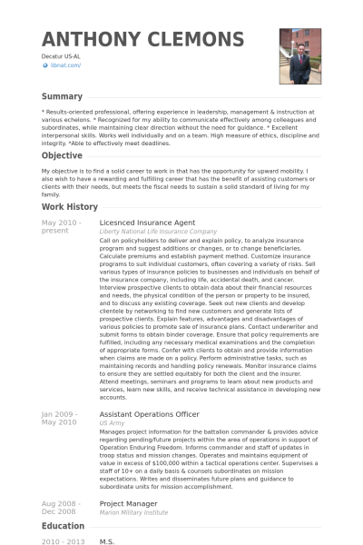 resume templates insurance agent  insurance agent resume sample and get ideas create your with life ...