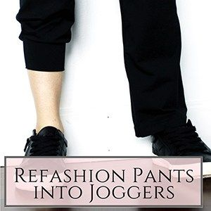 turn your old yoga pants into diy joggers  refashion