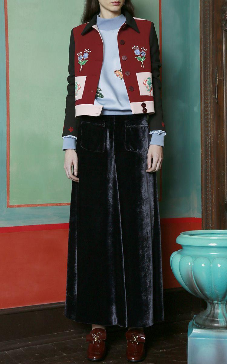 Vivetta Berna Wide Leg Velvet Pants