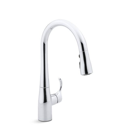 Simplice Single Hole Kitchen Sink Faucet With 15 3 8 Pull Down