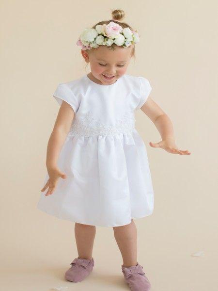 Kleid in weiß für die Taufe - Mädchen Taufkleid Diana von HOBEA ...