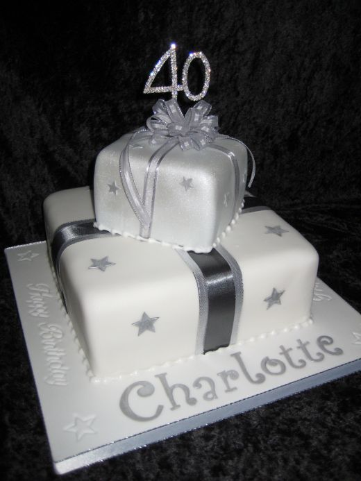 2 Tier Parcel Cake 40th Birthday