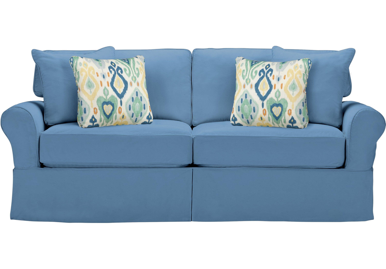 Cindy Crawford Home Beachside Blue Sleeper Sofa Sleepers Blue
