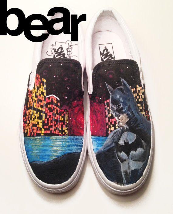 batman vans shoes