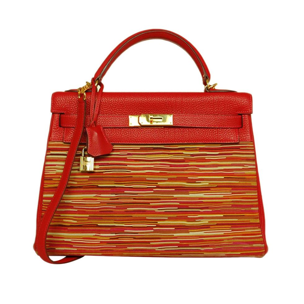f9121ab53cf1 1stdibs - HERMES 32cm Red Vibrato Kelly with Strap explore items from 1