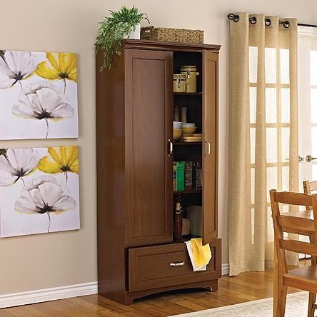 Dorel Home Furnishings Medium Walnut Brookline Altralock Cabinet