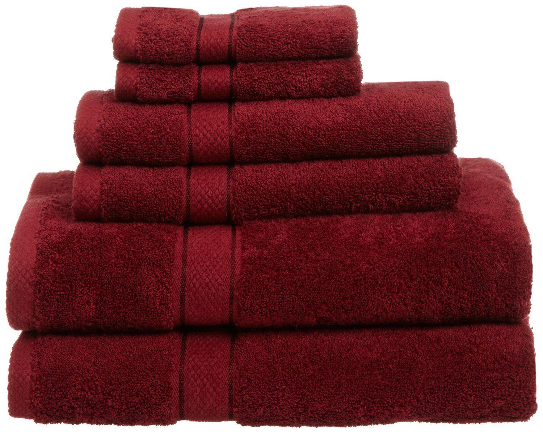 Amazon Com Pinzon Egyptian Cotton 725 Gram 6 Piece Towel Set