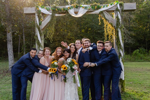 Callie & Clay's Blush & Navy Wedding at the Roost at