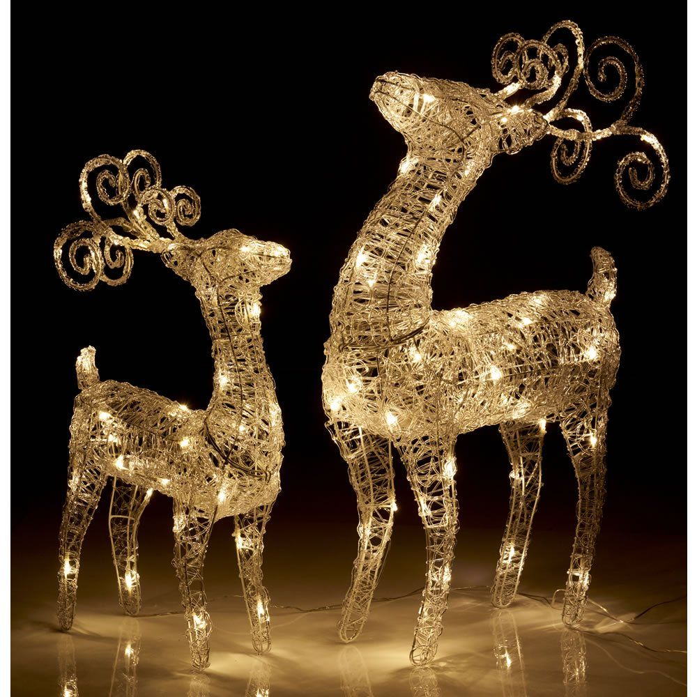 Home Diy Deals Uk On Twitter Outdoor Christmas Lights Decorating With Christmas Lights Outdoor Reindeer Christmas Decorations