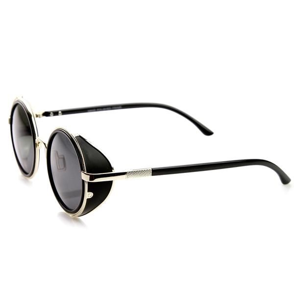 Round Covered Silhouette Featuring Side A Sunglasses Metal Studio DIHYEW29