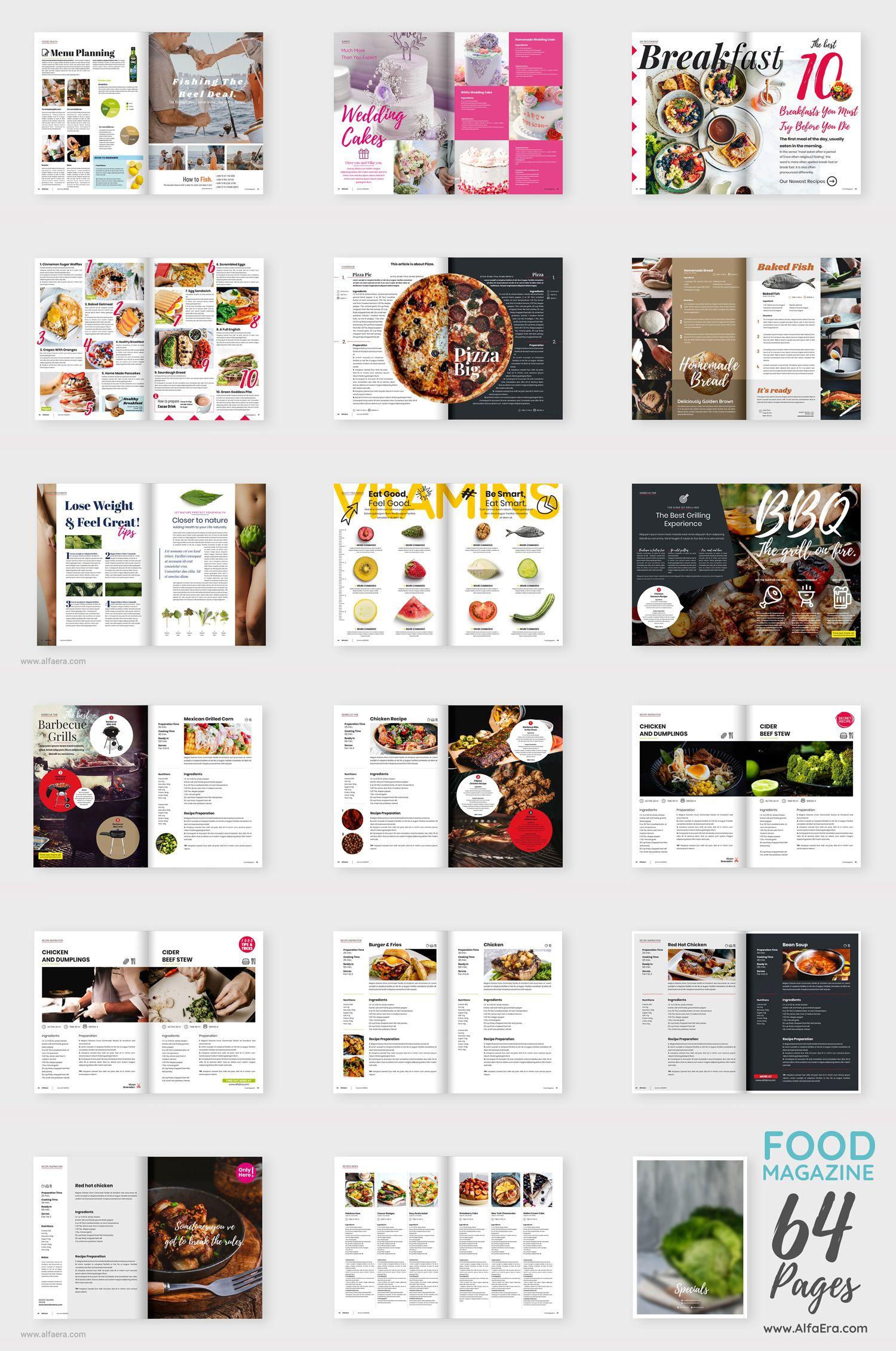 Food Magazine Template Alfaera Coreldraw Graphic Design Templates Food Magazine Food Magazine Layout Food Magazines Cover [ 2262 x 1500 Pixel ]