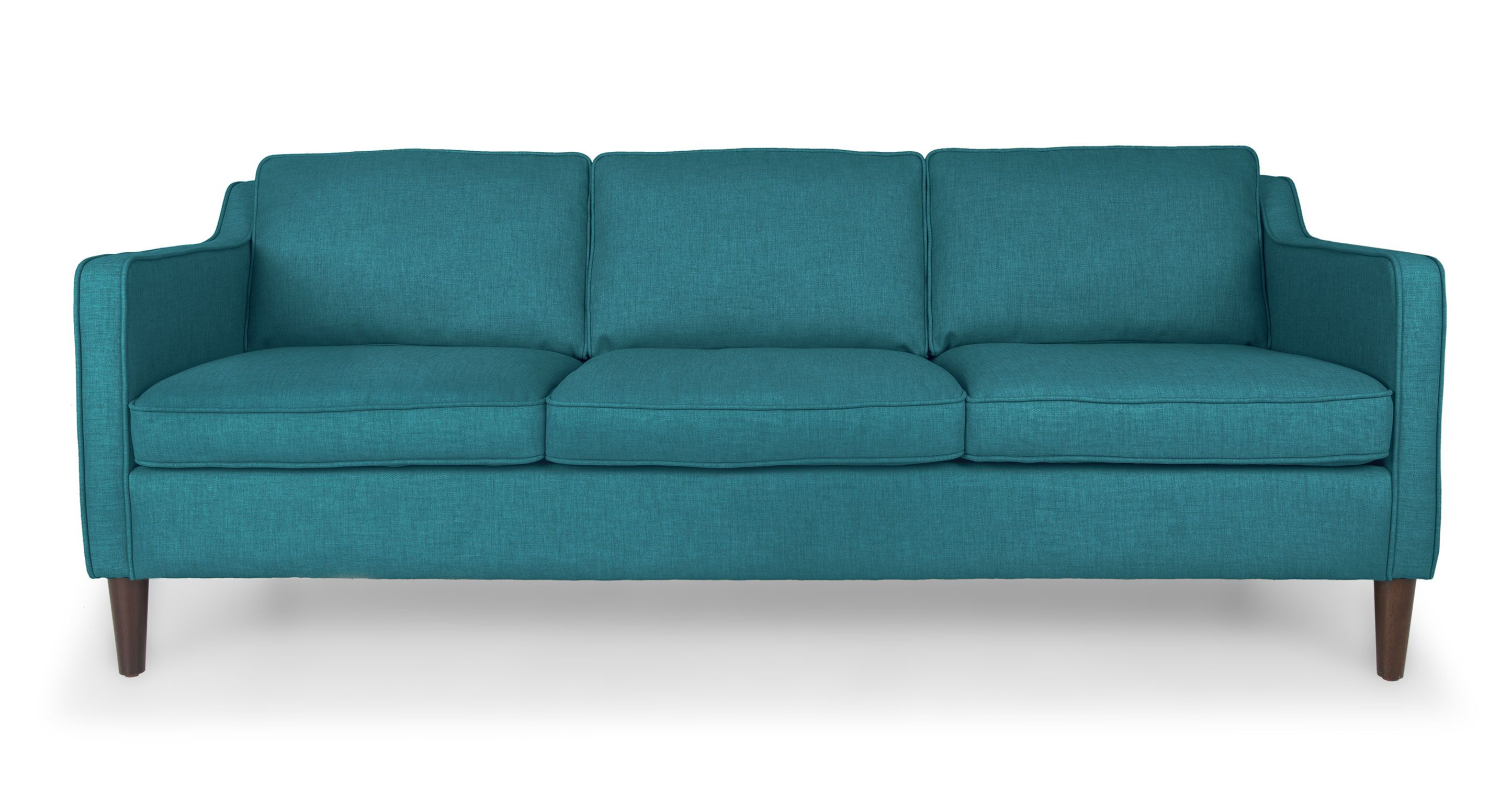 Teal Mid Century Modern Sofa