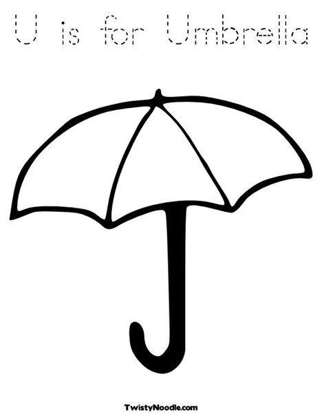 U Is For Umbrella Coloring Page Umbrella Coloring Page Umbrella Coloring Pages