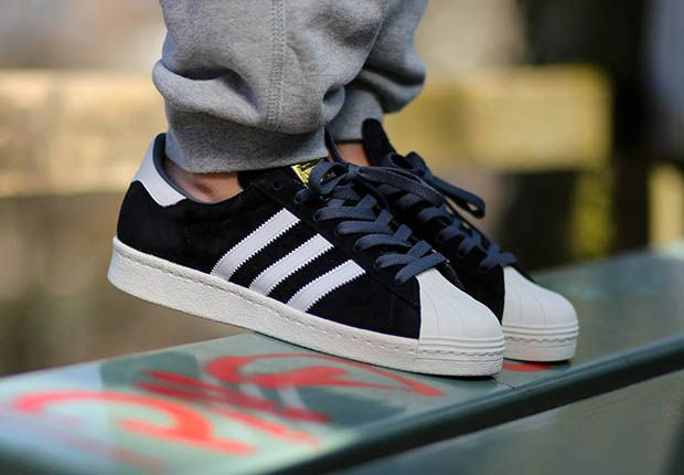 adidas Originals Superstar 80s Suede - Black
