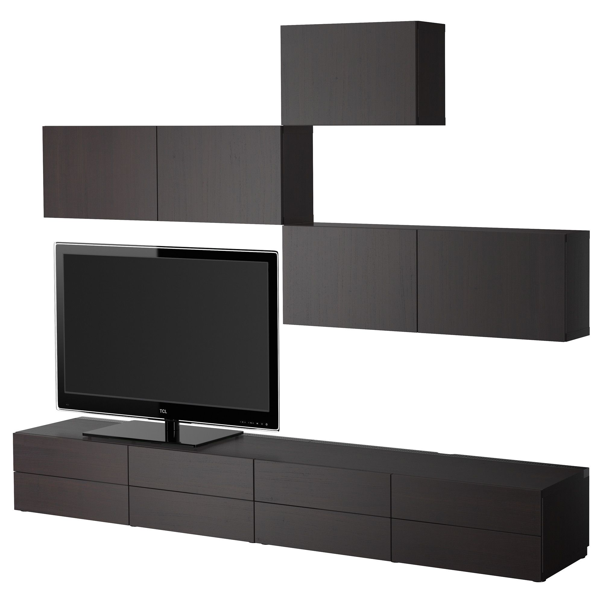 BEST… TV storage bination black brown IKEA Laundry cabinetry