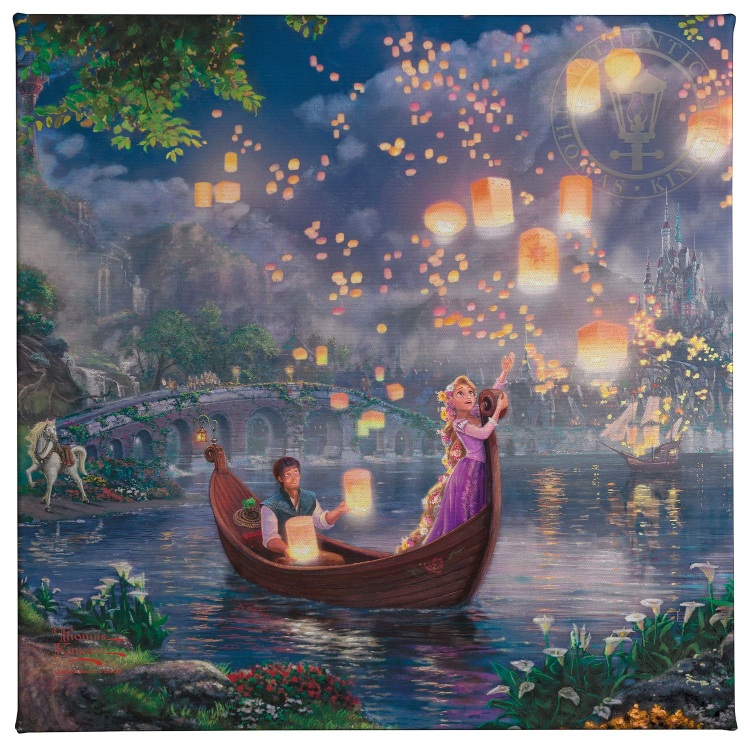 Tangled – 14″ x 14″ Gallery Wrapped Canvas | Thomas Kinkade Studios