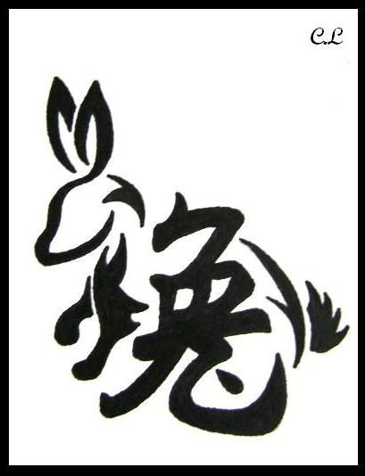 Year Of The Rabbit Tattoo