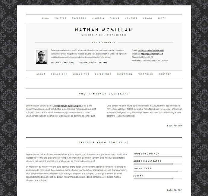 Minimalme resume cv templates pinterest cv resume template cv template yelopaper Image collections