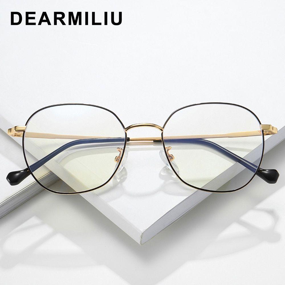 Dearmiliu Oval Rose Gold Frame Anti Blue Light Blocking Glasses