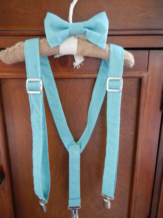 Boys Suspenders Bow Tie set Powder Blue   Tie set ...