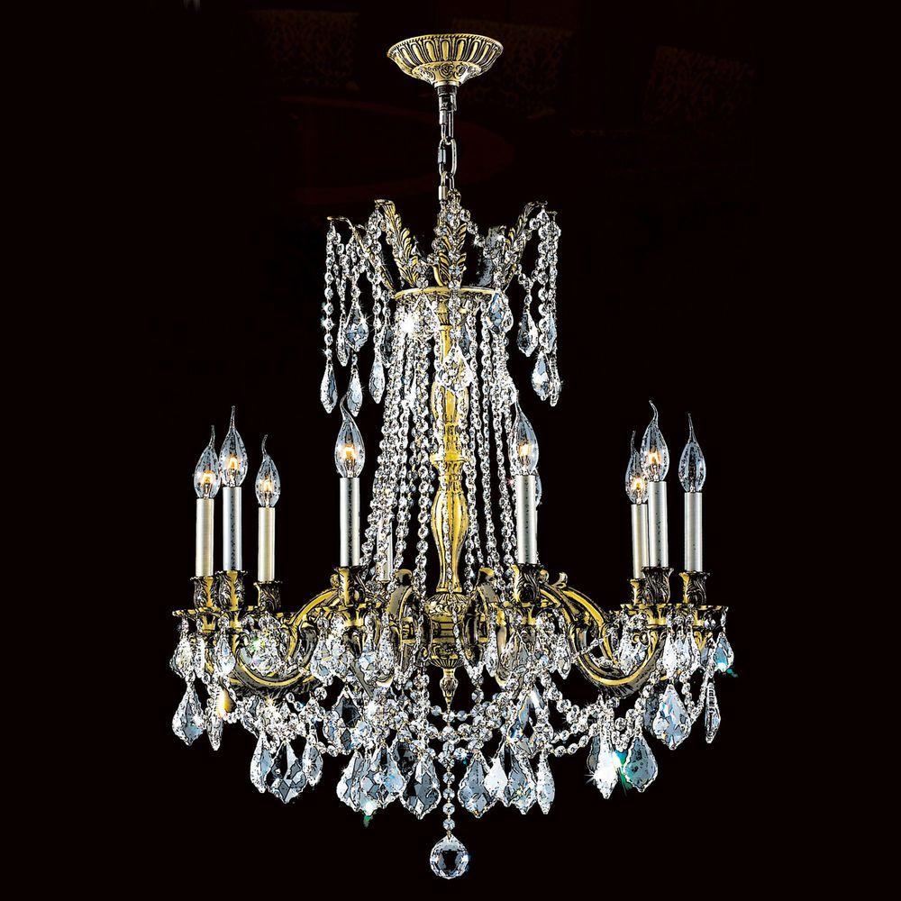 Worldwide Lighting Windsor 10 Light Crystal Chandelier #WorldwideLighting