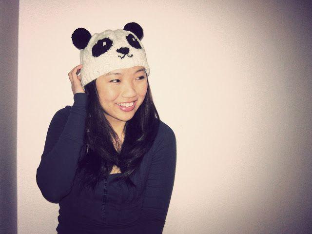 Knitting Patterns Galore Knitted Panda Hat Knithats